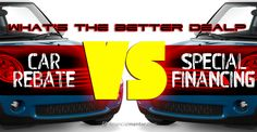 Car Rebate vs. Financing Comparison Calculator: figures which auto dealer incentive is the best value - rebate, or special financing.