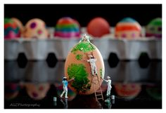 Litttle People decorating the Easter Eggs in preparation for Easter which will be upon us in no time