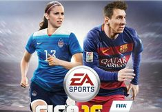 Alex Morgan is the first woman on the cover of FIFA : theCHIVE Fifa 2016 Game, America 2, Captain America, Fifa Qatar, Playstation, Ps4, Ea Sports, Game Resources, Game Update