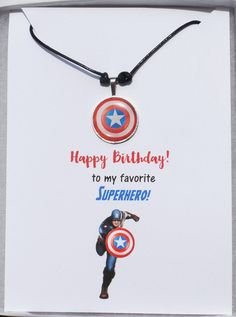 The Captain America shield necklace makes an awesome Birthday Gift for an Avengers fan. They'll be so thrilled you got them such a personalized gift!