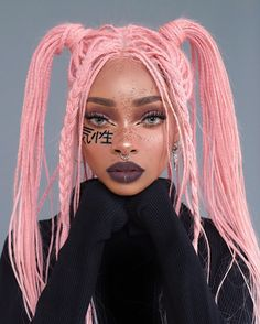 A look inspired by bratz, which one is your fave SWIPE 🖤🔛 Hair by Kishō 🇯🇵 I'm wearing bubblegum pink in this, available… Baddie Hairstyles, Cute Hairstyles, Braided Hairstyles, Which Hair Colour, Cool Hair Color, Aesthetic Hair, Aesthetic Makeup, Spiderbite Piercings, Dermal Piercing