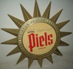 Old Beer Sign from Piels Beer
