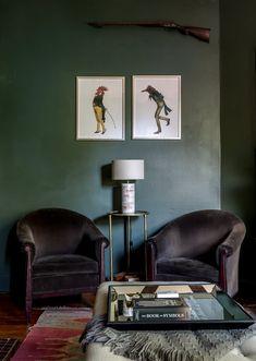 La possibilité des couleurs en décoration | La maison d'Arielle Goldman, Richmond, Virginie