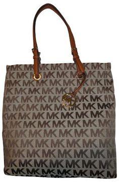 6ae312eaa9ce82 Michael Kors NS Tote (38S1CTTT3J) Biege & Camel Luggage: Handbags: Amazon .com