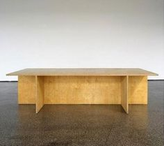 Donald Judd : Wooden Table