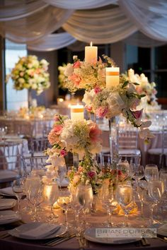 Urban-Chic New York Wedding at Steiner Studios from Brian Dorsey Studios - wedding centerpiece idea