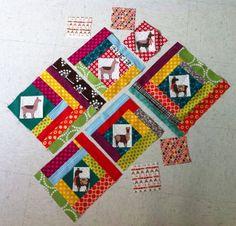Llama quilt blocks by lucymade, via Flickr