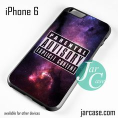 Parental Advisory Galaxy NT Phone case for iPhone 6 and other iPhone devices