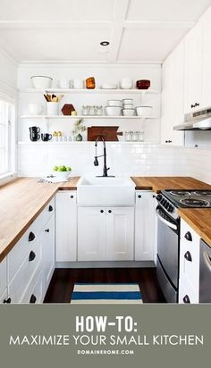 Maximazing space and getting the most out of a small kitchen.