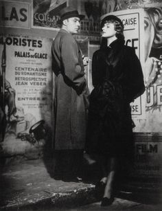 "Photo: Robert Capa On the set ""Arc de Triomphe"" 1947 Ingrid Bergman and Charles Boyer"