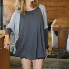Paneled Loose-fit Long-Sleeve T-shirt
