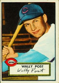 Wally Post 1952 Outfield - Cincinnati Reds  Card Number: 151  Series: Topps Series 1
