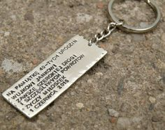 DIY hand made personalized keychain, metal, men gift