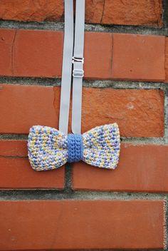 """Купить Галстук-бабочка вязаный """"Пёстрый акцент"""" - разноцветный, галстук-бабочка, галстук бабочка"""