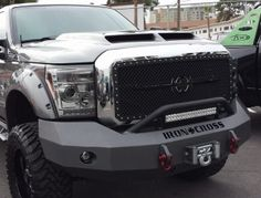 Iron Cross - Iron Cross 22-425-11 Winch Front Bumper with Push Bar Ford F250/F350/F450 2011-2014