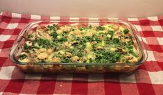 Ovenschotel met champignons, broccoli en honing/mosterd-kip