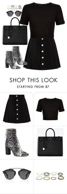"""""""Untitled#4420"""" by fashionnfacts ❤ liked on Polyvore featuring AG Adriano Goldschmied, Ted Baker, Isabel Marant, Yves Saint Laurent and Christian Dior"""