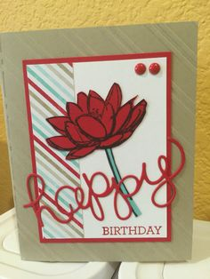 Love these colors together. Stampin up Remarkable You.