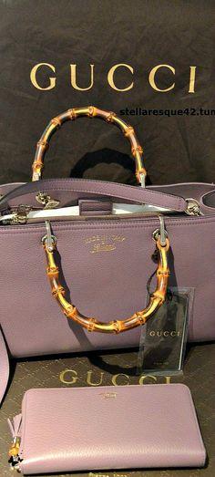 Gucci ~ Leather Handbag, Mauve