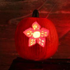 Stranger Things Demogorgon Pumpkin Stencil
