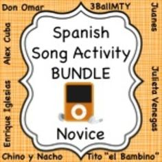 more than 25 activities to use with the most popular Latin songs to practice Spanish language grammar & vocab concepts.