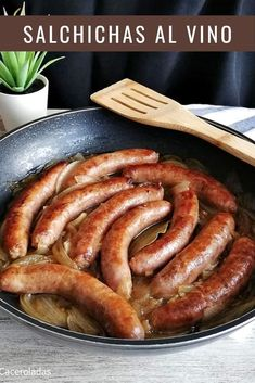 Smoked Sausage Recipes, Ham Recipes, Natural Beauty Recipes, Tapas Bar, Yummy Food, Tasty, I Foods, Food And Drink, Lunch