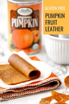 Pumpkin Fruit Leather is a healthy homemade treat that your kids will enjoy. Wholesome ingredients from combine to create this seasonal treat. Healthy Party Snacks, Healthy Halloween Snacks, Healthy Snack Options, Low Calorie Snacks, Healthy Fruits, Easy Snacks, Gluten Free Pumpkin, Pumpkin Recipes, Plant Based Snacks