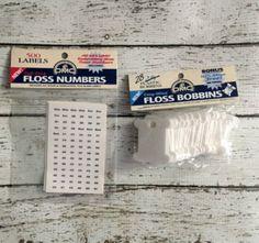 DMC Plastic Floss Bobbins Self Stick Numbers Embroidery Craft Supplies