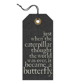 Change can be a really good thing. :: 'Became a Butterfly' Tag Wall Sign