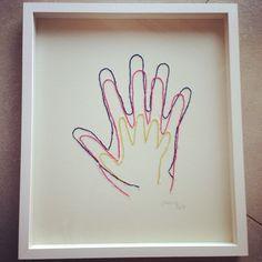 Wunderschönes Geschenk / Familienstickerei / Kinderhände / mother's Day / embroidered handprint
