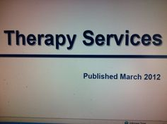 Therapy Services Medicare Manual. from Trailblazer Health Enterprises. Pinned by SOS Inc. Resources.  Follow all our boards at http://pinterest.com/sostherapy  for therapy resources.
