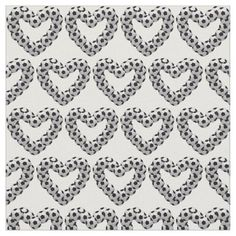 Heart of Soccer Ball Euro Futbol Football Heart Fabric - valentines day gifts love couple diy personalize for her for him girlfriend boyfriend