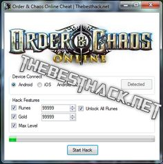 Order & Chaos Online Hack Cheat [Runes/Gold/Level/Unlock]
