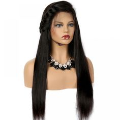 360 Lace Frontal Straight Human Hair Wig Pre Plucked With Baby Hair 100 Human Hair Wigs, Remy Human Hair, Brazilian Curly Hair, Lace Frontal, Weave Hairstyles, Lace Front Wigs, Natural Hair Styles, Free Shipping, Virgin Hair