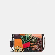 """""""Dinky Crossbody 24 in Embellished Patchwork Leather""""  I heart this <3  #coach #spring2016"""