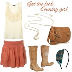 Get the look, Country girl style.