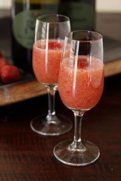 The alternative to the Bellini - the Rossini (also from Venice)!! Strawberry puree + prosecco = bellissima!
