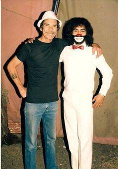 Don Ramón (Ramón Valdés) y Cepillín (Ricardo González) juntos