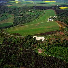 The Kilburn White Horse: This is Britain's largest white horse in surface area, covering just over an acre