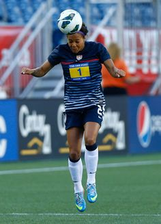 Sydney Leroux warming up before the game against South Korea. (Jared Wickerham/Getty Images North America)