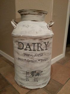 Just Add Some Java: Vintage Milk Can