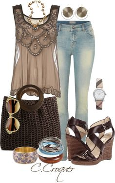 """""""I Love my Jeans"""" by ccroquer on Polyvore"""