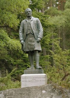 Statue commissioned by Queen Victoria of John Brown at Balmoral Castle.