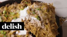 How To Make Taco Spaghetti Pie | Delish.... this is different.... maybe Mom and Dad would actually eat this!