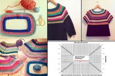 ‎كروشــــيه و تـريكــــو حنـــــان‎ fényképe. Crochet Baby Sweater Pattern, Crochet Baby Sweaters, Crochet Cardigan, Crochet Clothes, Knitting Paterns, Baby Knitting, Crochet Patterns, Crochet Cord, Hippie Crochet