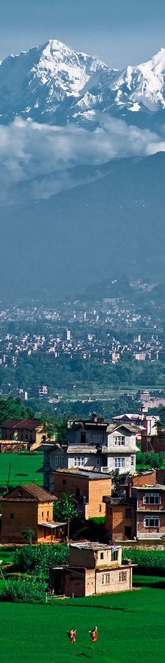 Himalayan mountain view from a small village in the Kathmandu Valley  visit us @ http://travel-buff.com/