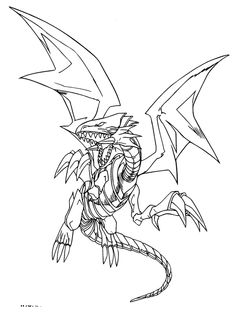 Blue Eyes White Dragon Coloring Pages