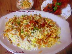Pepper, Chilli and Vanilla: Chicken Tandoori Biryani/Tandoori Chicken Biryani....