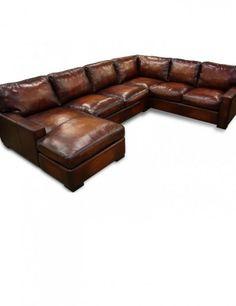 Oversized sectional sofa leather
