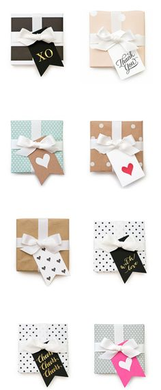 Pretty packages + cute gift tags!